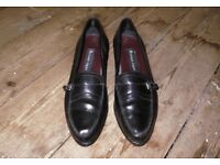 Black Leather Loafers Etienne Aigner
