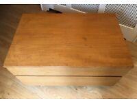 Wooden 2 drawer TV unit