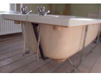 Fibre glass Twyford bath 1680x685 with 2 taps