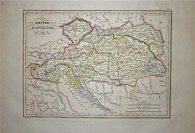 1834 Genuine Antique map Empire of Austria. Malte-Brun