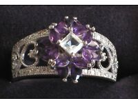 "NEW ""Twilight Lavender"" Amethyst And Topaz Ring"