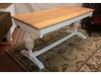 *FREE DELIVERY* Large Solid Oak Farmhouse Refectory Dining Table Vintage White Shabby Chic(not pine)
