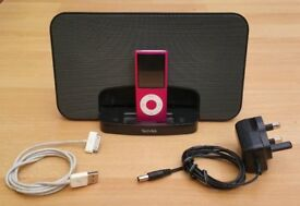 Pod Nano, 8GB, Pink, Docking Station, FAULTY BATTERY but otherwise good condition