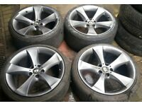 GENUINE 20 BMW VW T5 T6 TRANSPORTER VIVARO TRAFFIC E60 5 6 7 SERIES ALLOY WHEELS CONCAVE 11J