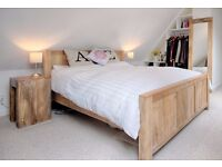 King Size Bed, Bedside Tables, Tall Mirror and Chest of Drawers | CAN BE SOLD SEPARATELY