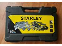 New Stanley 80pc Socket Set