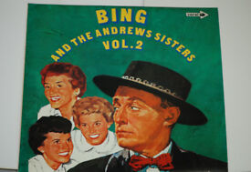 Bing And The Andrews Sisters Volume 2 Album. Record in excellent condition. Sleeve in good condition
