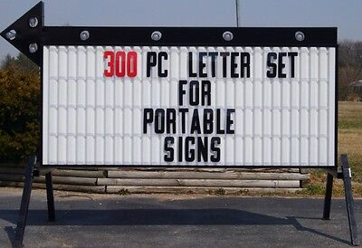 Outdoor Sign Letters Flexible Changeable Marquee Reader Board Plastic 8 Letter