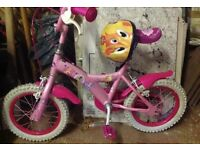 Disney Princess Bicycle with helmet
