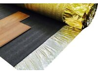 Acoustic Gold Laminate / Wood Flooring Underlay With Vapour Barrier
