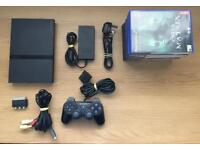 Sony PlayStation 2 Slimline PS2 Black Console + Games