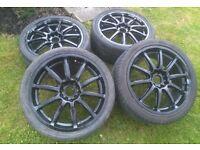 "17"" 5x100 & 5x114.3 innovite Tarmac alloy wheels"