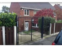 Heavy duty solid wrought iron gates