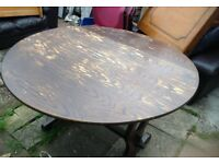 retro vintage folding wooden dining kitchen table