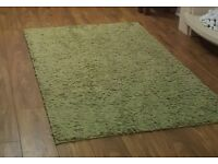 Green rug from Next. Size 120x170cm