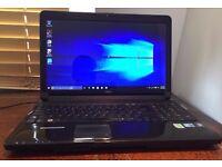 EXCELLENT WORKING ORDER FUJITSU AH530, HDMI, HD GRAPHICS, WIFI, WINDOWS 7 LAPTOP, WEBCAM & MIC,