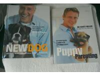 2 x books: New Dog by Bruce File ,& puppy parenting by Dr Scott Miller
