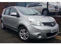 2009 (58 reg), Nissan Note 1.4 16v Acenta 5dr, Hatchback, FSH, LONG MOT, £2,195 P/X Welcome