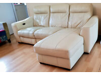 Leather Recliner Sofa with Power Option