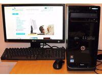 HP Core i3 PC Tower Windows 10 Microsoft Office 4GB DDR3 RAM 500GB HDD
