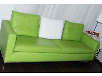 Designer Lime Green Real Leather Sofa