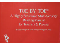 TOE BY TOE READING PROGRAM FOR DYSLEXIA - Parent Use (2 available)