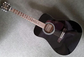 ACOUSTIC GUITAR BY BRUNSWICK, IMMACULATE, AS NEW, MUST BE SEEN, BLACK.