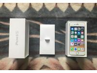 Boxed Unlocked Apple iPhone 6S in Silver and White Sim Free