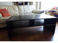 SOLID WOOD Black-brown coffee table - Linnarp - good condition