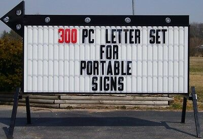 New 8 Plastic Outdoor Readerboard Marquee Sign Letters
