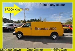 2012 Chevrolet Express 2500 Extended $500.00 Down.