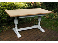 Ercol - Vintage Traditional Solid Oak 5ft Dining Table - Shabby Chic - can deliver