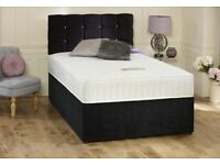 ❄️Brand New Crushed Velvet Beds and Mattress. Available separately or as a set. FREE DELIVERY!!!