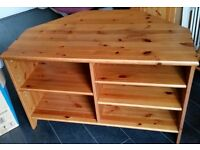 Large TV media table, solid pine wood Ikea Leksvik, 100cm width x 63cm depth. In very good condition