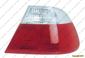 Tail Lamp Passenger Side Coupe Clear And Red High Quality [From 1999 To March 2003] BMW 3-Series (E46)
