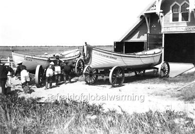 """Photo 1914 Nantucket MA """"US Life Saving Station"""" for sale  Shipping to Canada"""