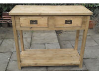 PINE POTBOARD/ SIDEBOARD WITH 2 DRAWERS.