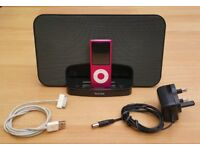 iPod Nano, 8GB, Pink, Docking Station, FAULTY BATTERY but otherwise good condition