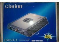 400w Clarion Car Amplifier. Full wiring kit. Good working order