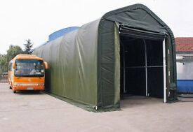 Economical storage tent 5,5x15m - Large door 3,60x3,50m - Quick assembly without experience