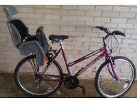 Ladies Bike with Detachable Child Seat