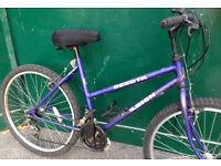 18 inch Raleigh Dakota MTB pink ladies bicycle mountain bike cycle