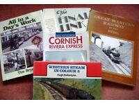 Classic steam railway hardback books.