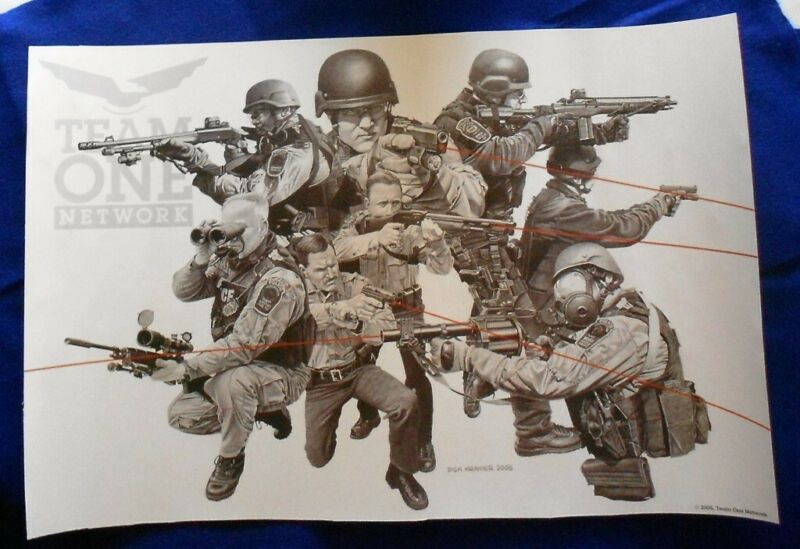 Dick Kramer Print Law Enforcement Military Collectible RARE OEF OIF SWAT SEAL SF