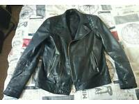 All Saints Kushiro Leather Biker Jacket. Medium