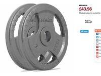 2x15kg cast iron olympic plates