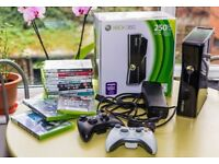 XBOX 360 slim 250GB + 11 games