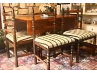 Classic dining room table and four chairs