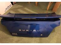 Subaru impreza wrx bootlid and spoiler