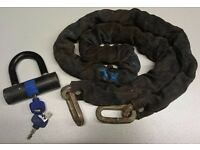 Motorcycle security chain and padlock